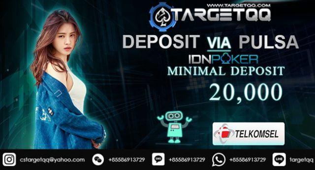 IDNPoker Deposit Pulsa Telkomsel